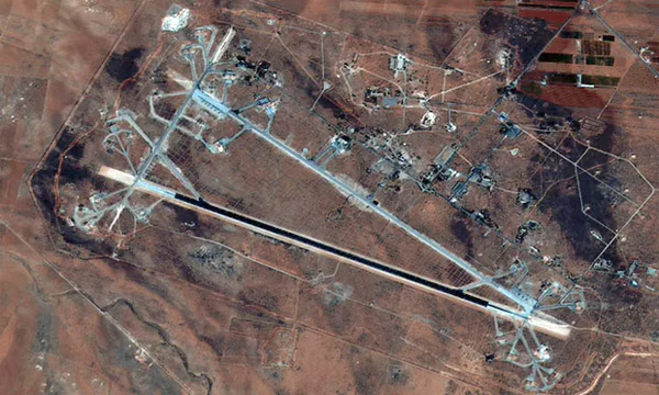 This image released by the US Department of Defense shows al-Shayrat airfield in Syria