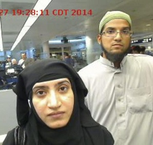 Syed Farook with his wife, Tashfeen Malik, killed 14 people at a Christmas party in San Bernardino, California.