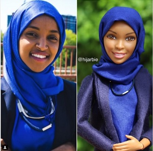 "Ilhan Omar has aleady been honored with her own ""Hijarbie,"" a project by a Nigerian Muslim woman."