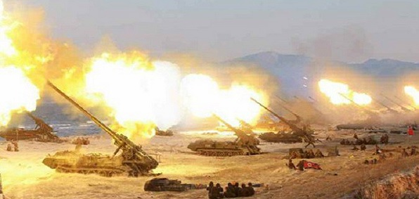 'Largest ever' North Korea artillery drill