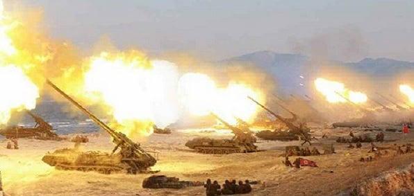 'Largest ever' North Korea artillery drill