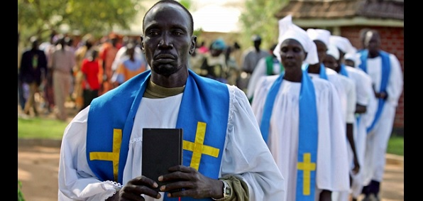 Christians in Sudan in a processional. They have been persecuted by Islam for decades but continue to grow in their faith.
