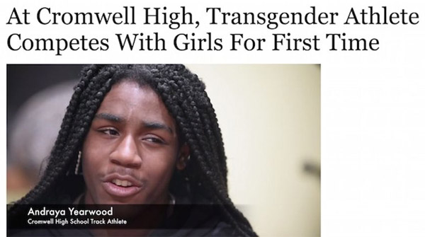 Cromwell High School freshman Andraya Yearwood (Photo: Screenshot, Hartford Courant)