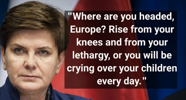 Polish Prim Minister Beata Szydlo on muslim immigration