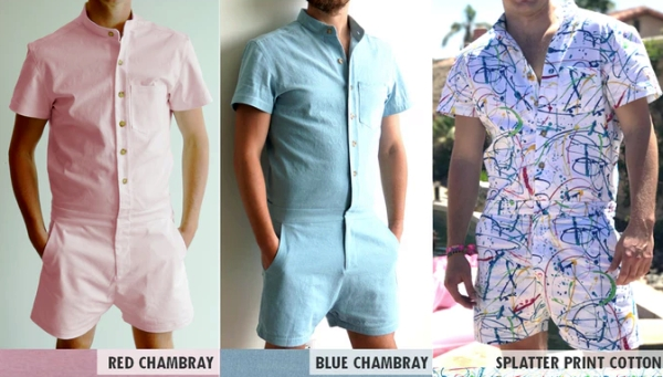 RompHim fashions: Kind of looks like pink, baby blue, and kindergarten crayon time