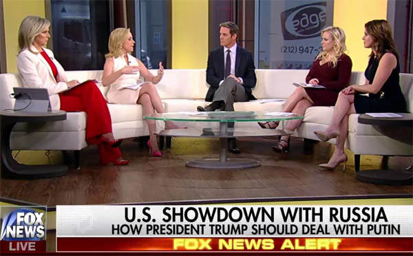 "Sandra Smith (far left) wears pants on Fox News' ""Outnumbered"""