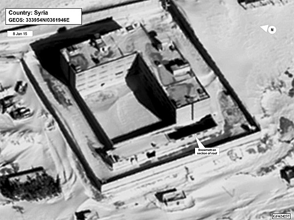 U.S. State Department provided a Jan. 15 satellite image that shows what the U.S. believes to be a building inside a Syrian prison that was modified to install a large crematorium to burn dead prisoners