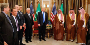 President Trump meets with Saudi leaders