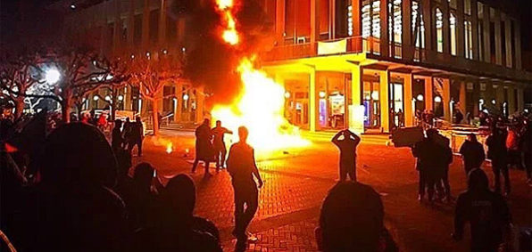 Violent protests by mob led U.C. Berkeley to cancel speech by Milo Yiannopoulos in February