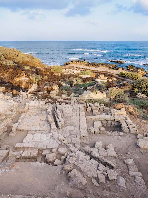 The ancient synagogue of Caesarea. (Assaf Peretz, Israel Antiquities Authority)