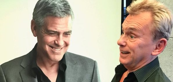 Actor George Clooney and TV's Pat Sajak (Courtesy Twitter / Pat Sajak)