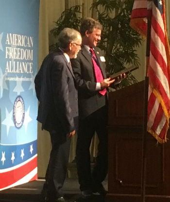 David Horowitz awarded Hero of Conscience Award in Los Angeles May 22, 2017.