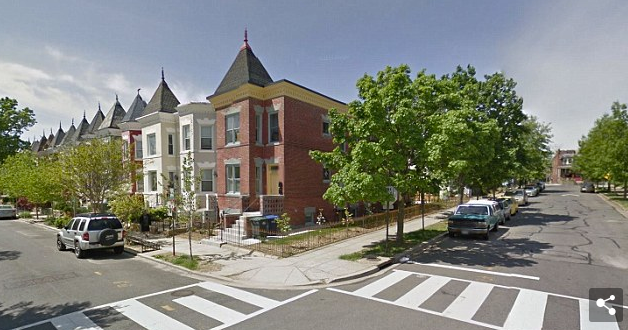 The location where Seth Rich was shot at the southwest corner of Flagler Place and W Street Northwest in Washington, D.C.