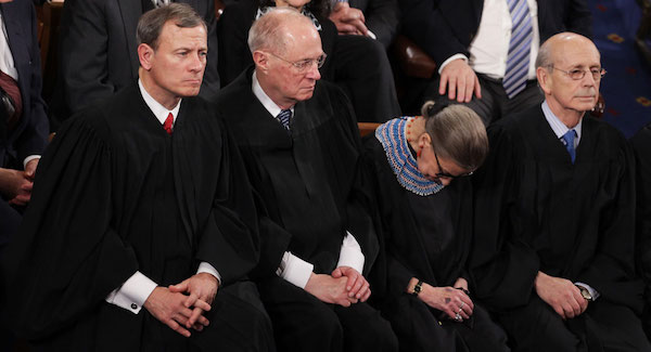Ruth Bader Ginsburg sleeping during 2015 State of the Union