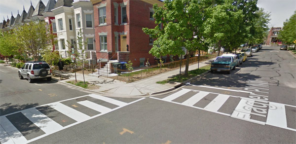 Intersection where DNC staffer Seth Rich was found 'conscious and breathing with apparent gunshot wound(s) to the back,' according to a July 10, 2016, police report (Photo: Google Maps)