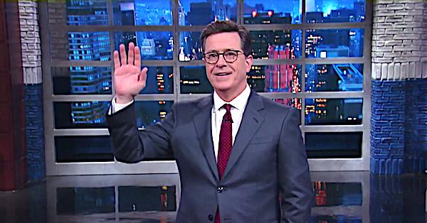 "CBS ""Late Show"" host Stephen Colbert"