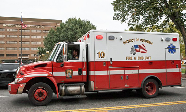 Ambulance from the Washington D.C. Fire and Emergency Medical Services Department (Photo: Twitter)