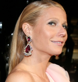 Gwyneth Paltrow with some big profit dangling from each ear