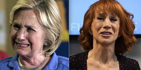 Hillary Clinton and Kathy Griffin