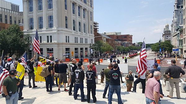 Crowd at June 10 'March Against Shariah' rally in Harrisburg, Pennsylvania (Photo: Twitter)