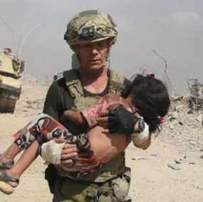 David Eubank rescues Iraqi child.