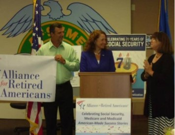 Rep. Esty and Connecticut Alliance for Retired Americans.