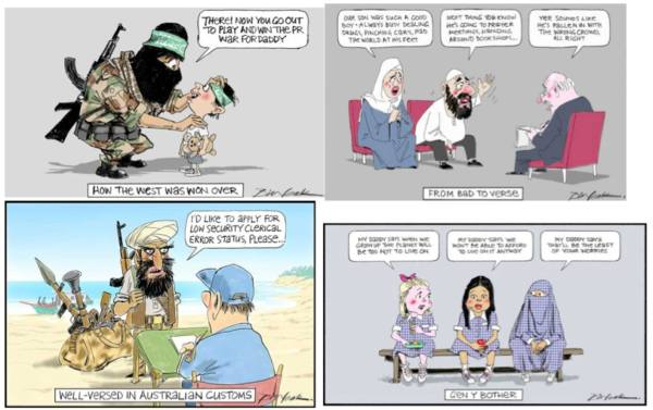 A compilation of Bill Leak's cartoons on militant Islam