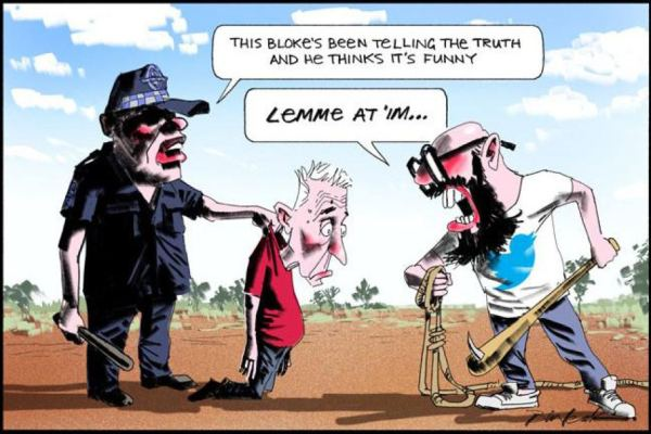 Bill Leak's cartoon explaining his predicament with AU speech police