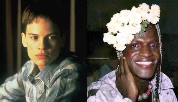 """Brandon Teena (left) & """"Marsha"""" Johnson (right) Transvestite"""