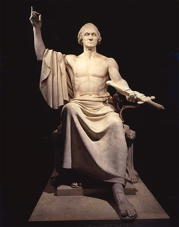 Depiction of George Washington on display at the Smithsonian (Photo: Pinterest)