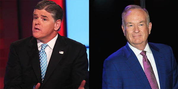 Fox News' Sean Hannity and former Fox News host Bill O'Reilly