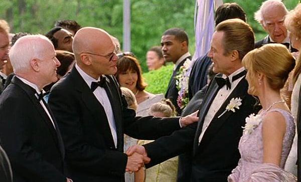 Sen. John McCain appears alongside James Carville in the 2005 comedy 'Wedding Crashers'
