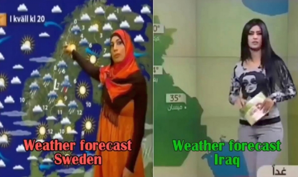 Weather forecast in Sweden vs. Iraq