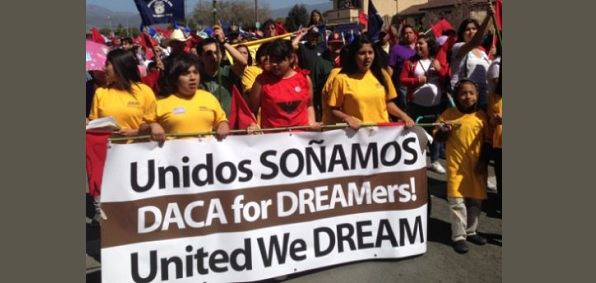 Protesters rally in support of so-called DREAMers.