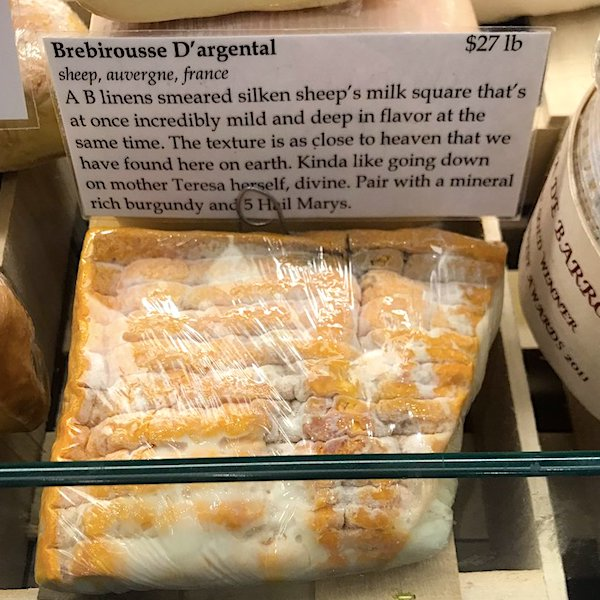 The Bedford Cheese Shop in New York City is using Mother Teresa to market its product. (Photo courtesy the Catholic League)