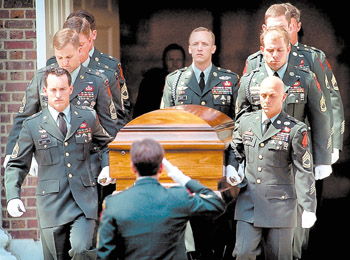Funeral service for U.S. Army Sgt. First Class Christopher Speer.