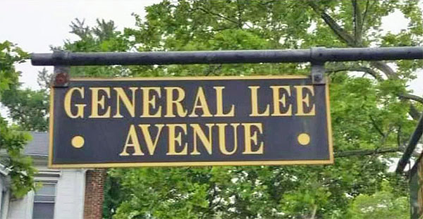 Street sign on Fort Hamilton in New York
