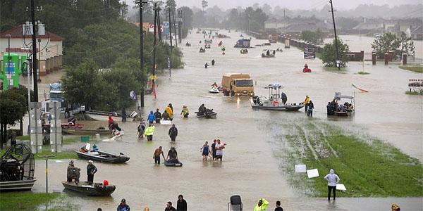 Photo of Houston flood devastation posted to Twitter