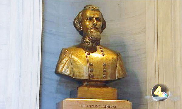 Nathan Bedford Forrest bust at Tennessee State Capitol (Photo: WSMV-TV 4 screenshot)