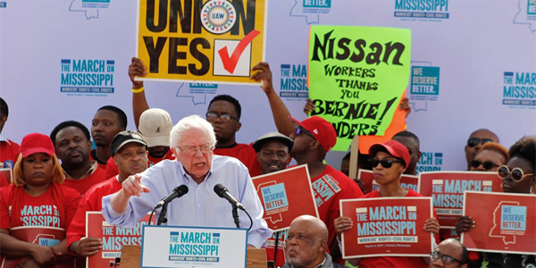 UAW rally featured Bernie Sanders as a speaker (Photo: Facebook)