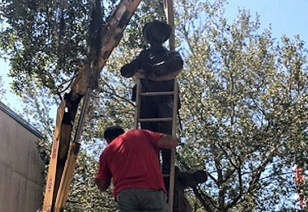 'Old Joe' Confederate statue removed on Aug. 14, 2017, in Gainesville, Florida