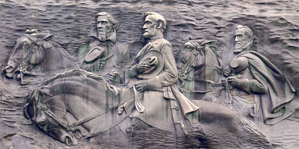 Stone Mountain carving (Photo: Sons of Confederate Veterans)