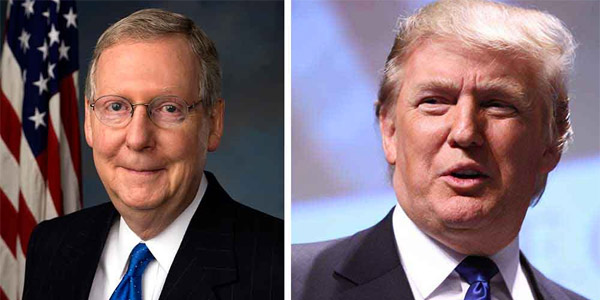 Senate Majority Leader Mitch McConnell and President Trump