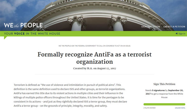 WH-petition-Antifa