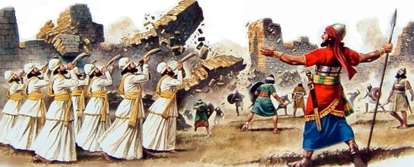 Where did those Canaanites go when the wall fell?