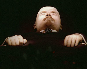 Lenin's mummified body still lies on display in a mausoleum in Moscow's Red Square