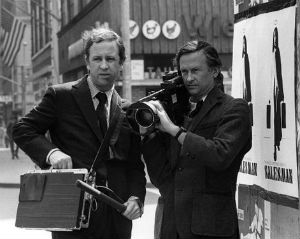 "Filmmakers Albert and David Maysles in a publicity still for their 1969 documentary ""Salesman"""