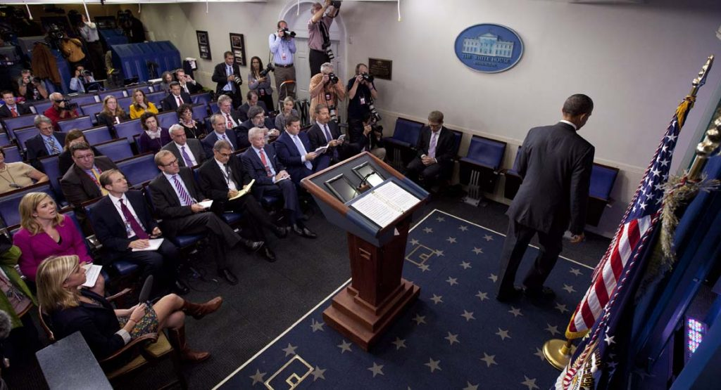 Press briefings were not always as heavily attended by the press during the Obama administration
