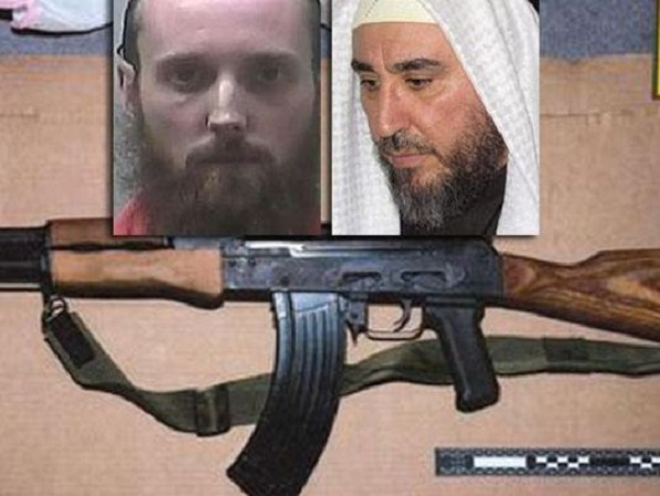 "Sebastian Gregerson, left, purchased thousands of dollars worth of weapons using ""zakat,"" or Muslim charitable donations sent to him by his imam, the Libyan-born Suleiman Bengharsa of Clarksburg, Maryland."