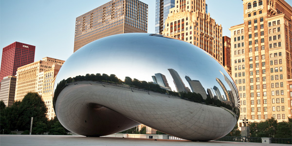 Chicago 'Bean' or 'Cloud Gate' (Photo: Flickr/Steve Wright. Jr.)